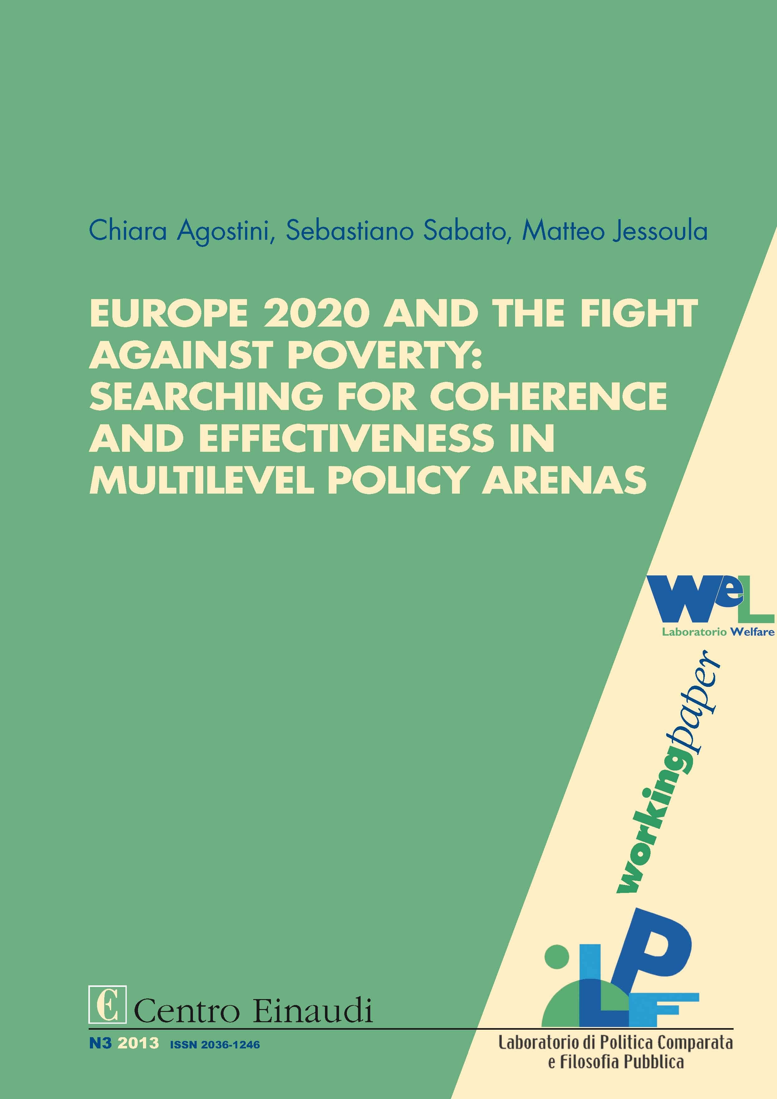 Copertina di Europe 2020 and the Fight against Poverty: Searching for Coherence and Effectiveness in Multilevel Policy Arenas