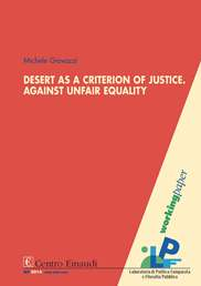 Copertina di Desert as a Criterion of Justice. Against Unfair Equality