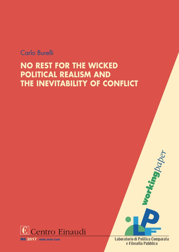 Copertina di No Rest for the Wicked. Political Realism and the Inevitability of Conflict