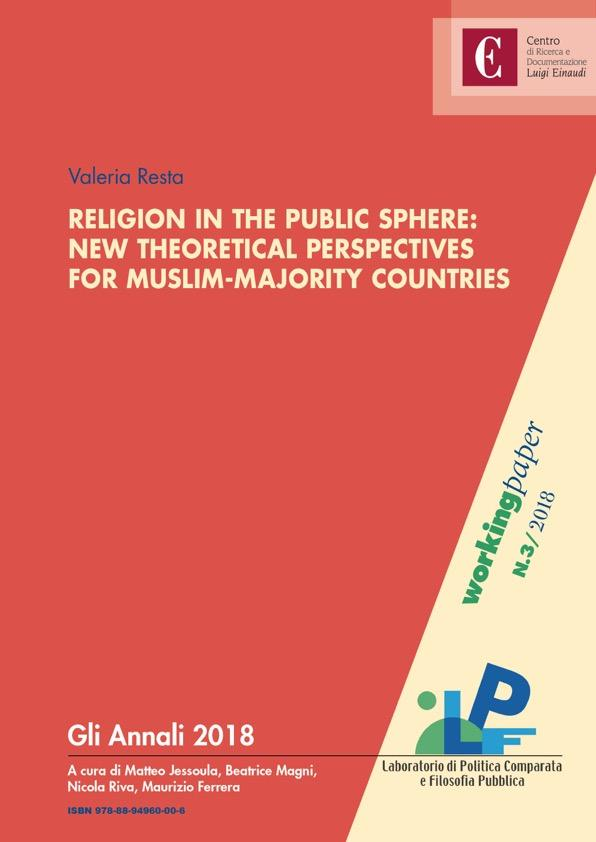 Copertina di Religion in the Public Sphere: New Theoretical Perspectives for Muslim-Majority Countries