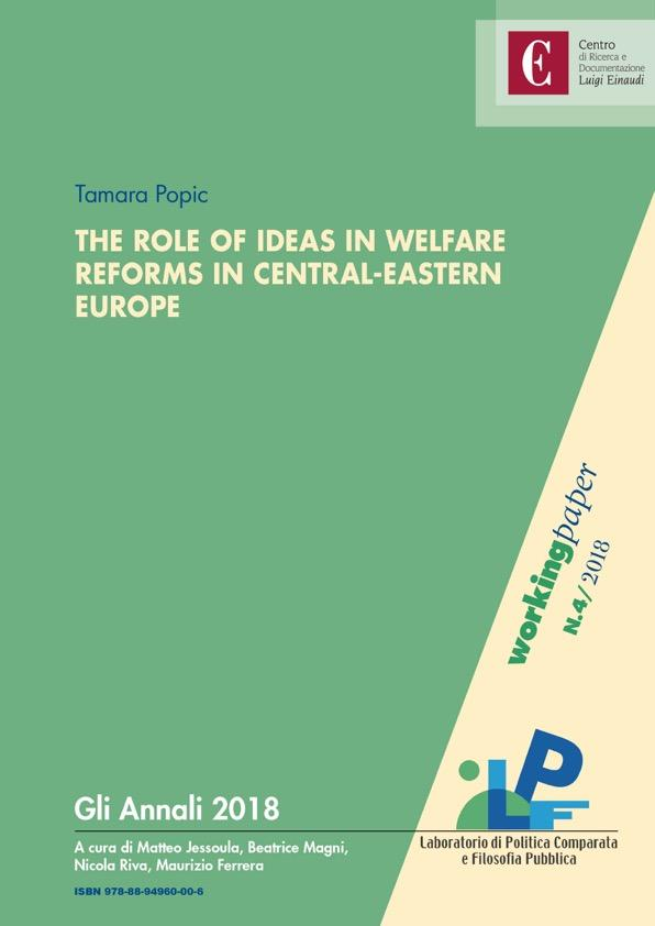 Copertina di The Role Of Ideas In Welfare Reforms in Central-Eastern Europe