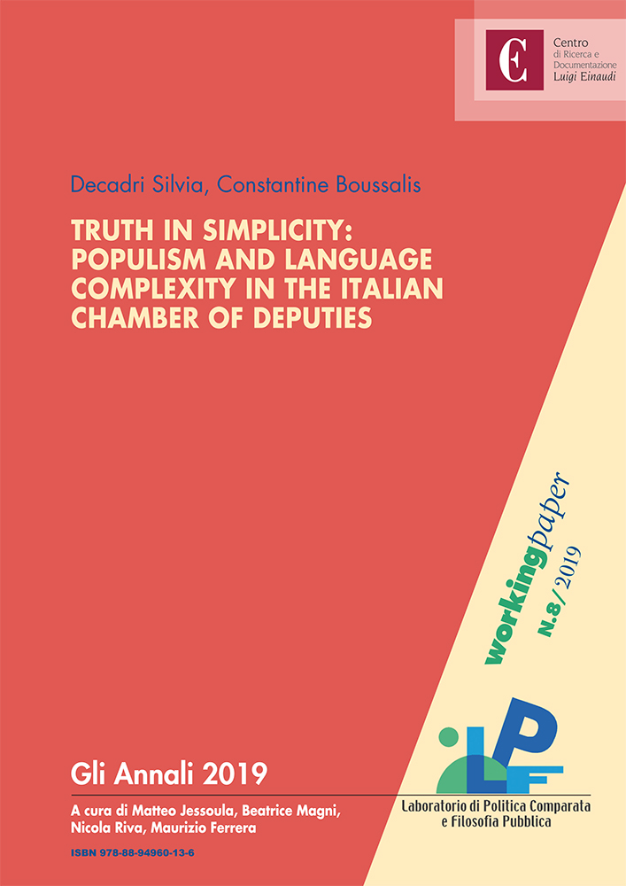 Truth in Simplicity: Populism and Language Complexity in the Italian Chamber of Deputies