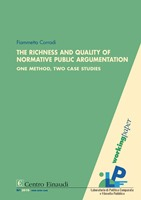 Copertina di The Richness and Quality of Normative Public Argumentation