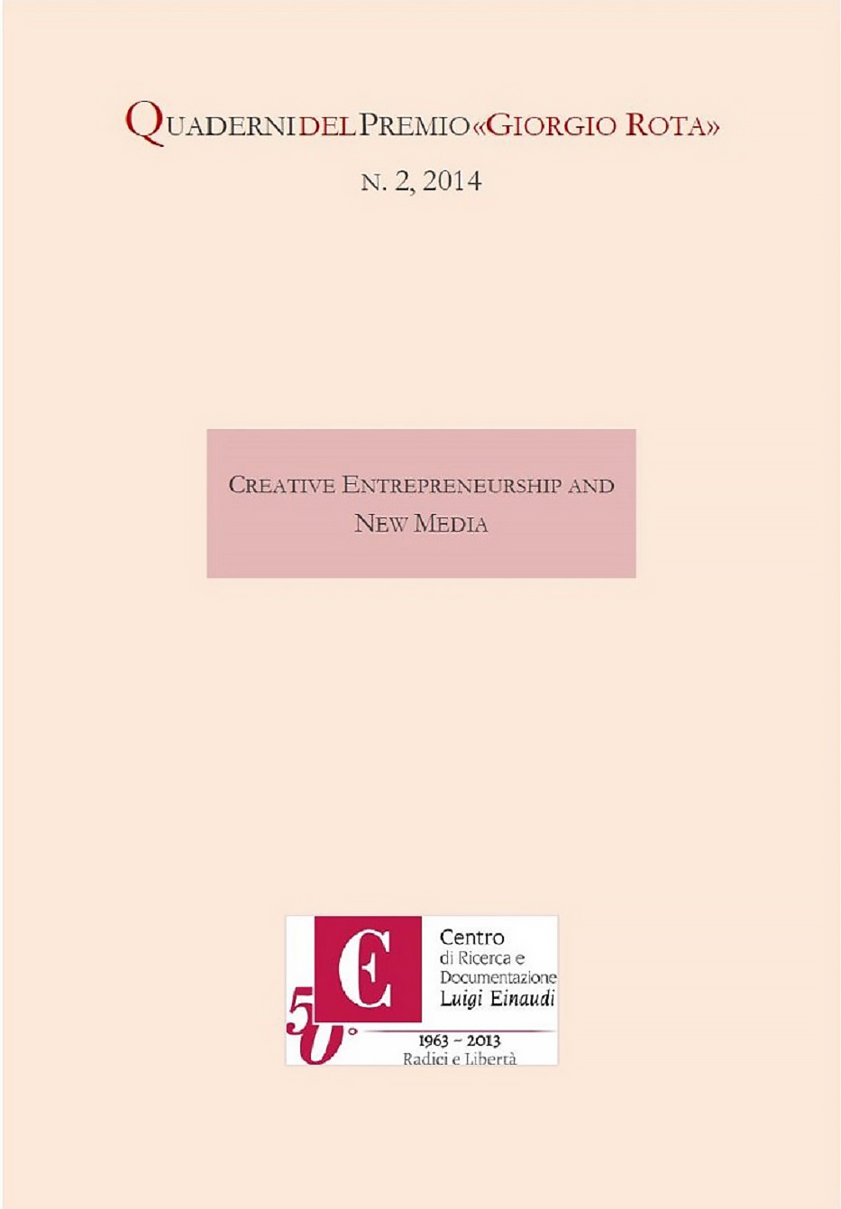 Copertina di Creative Entrepreneurship and New Media