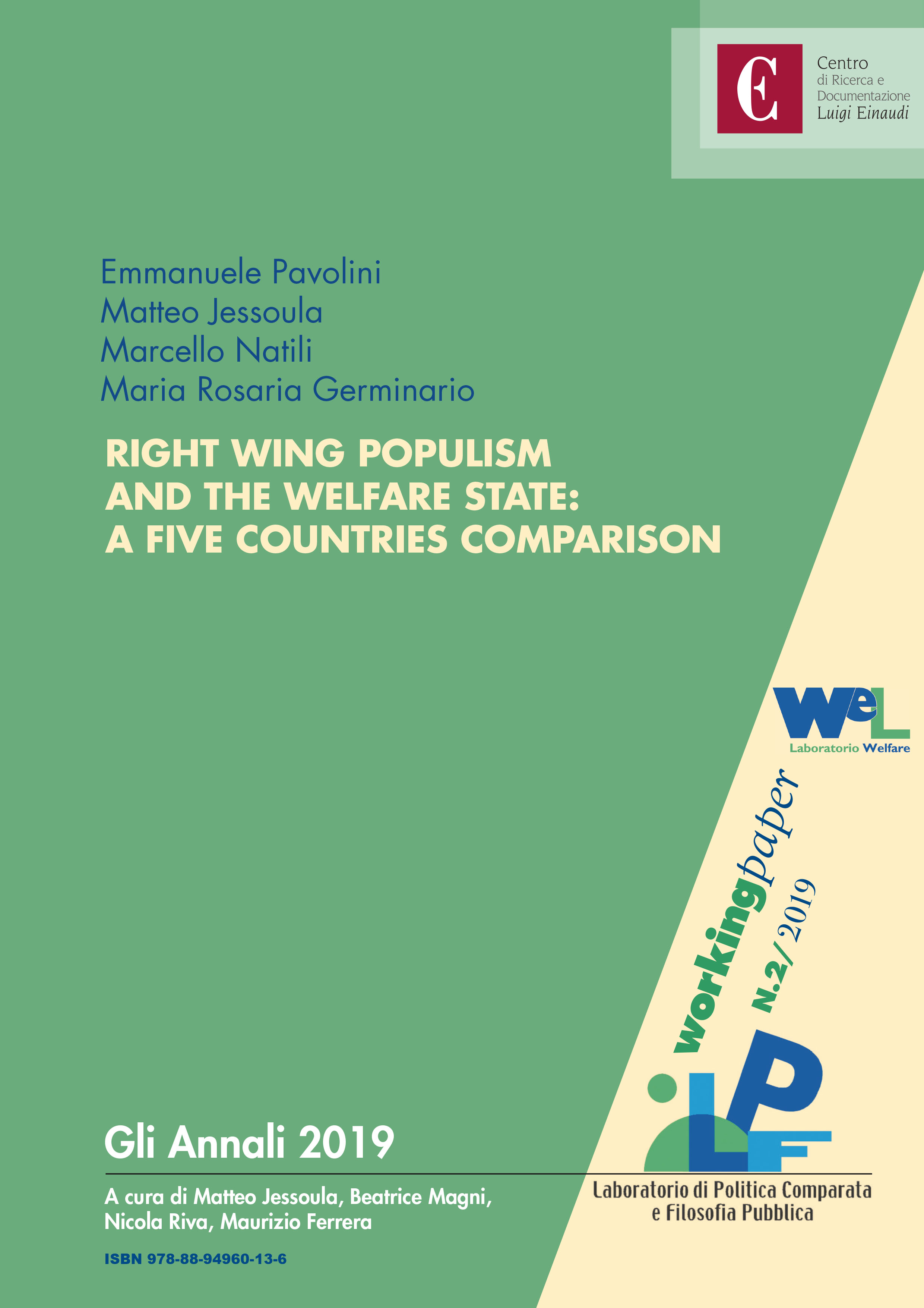 Right Wing Populism and the Welfare State: a Five Countries Comparison