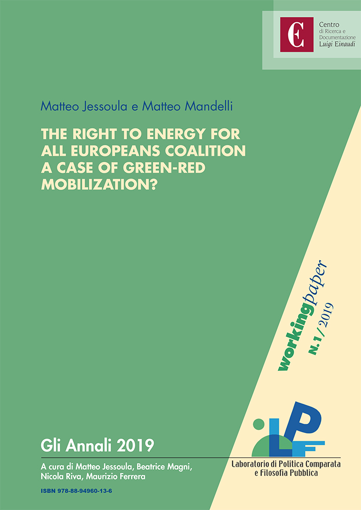 The Right to Energy for All Europeans coalition. A case of green-red mobilization?